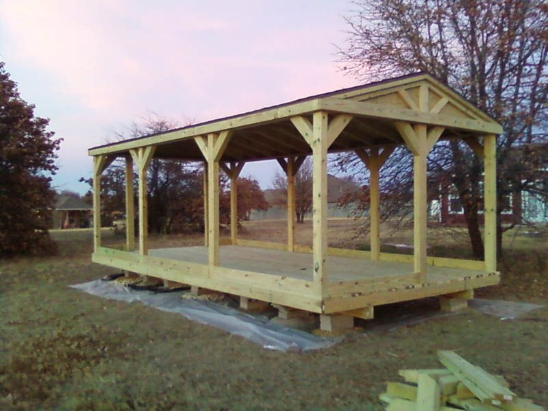 Portable Building A Deck : Okc portable buildings pavilions decks