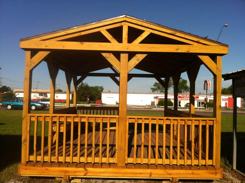 Okc portable buildings pavilions decks for Decks and gazebos
