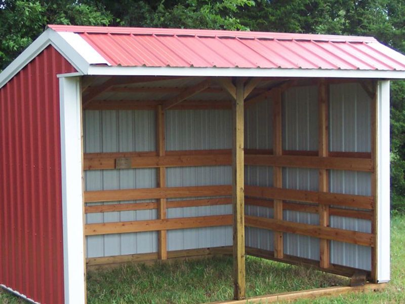 how to build a loafing shed for cows